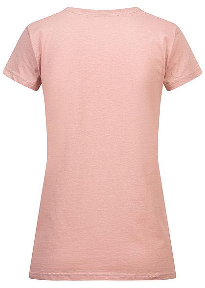 Eight2Nine Damen T-Shirt Support Print shadow rosa