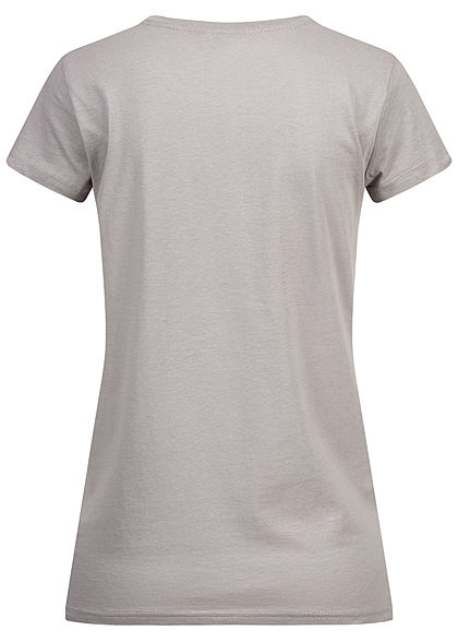 Eight2Nine Damen T-Shirt Support Print mouse grau