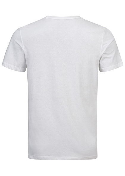 Tom Tailor Herren T-Shirt Logo Print weiss iris blau