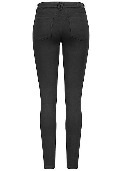 Tom Tailor Damen Extra Skinny Jeans Hose 5-Pockets Regular Waist schwarz denim