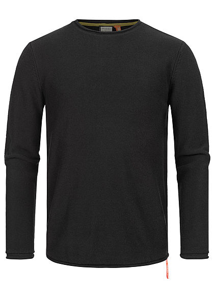 Eight2Nine Herren Struktur Pullover Sweater by Sky Rebel schwarz - Art.-Nr.: 20094282