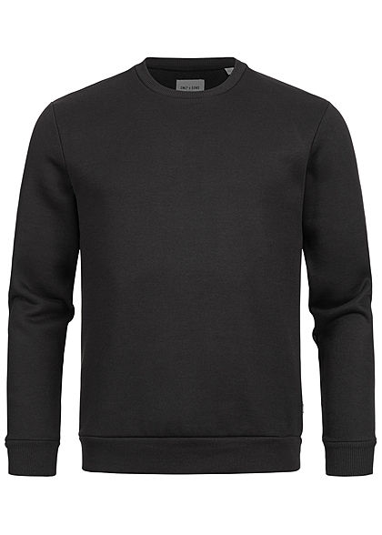 ONLY & SONS Herren NOOS Basic Sweater Pullover Rippbündchen schwarz - Art.-Nr.: 20094289