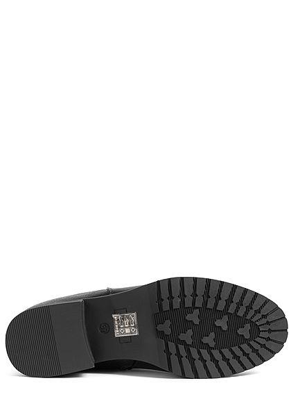 Seventyseven Lifestyle Damen Schuh Kunstleder Stiefelette Snake Optik Absatz 3cm schwarz