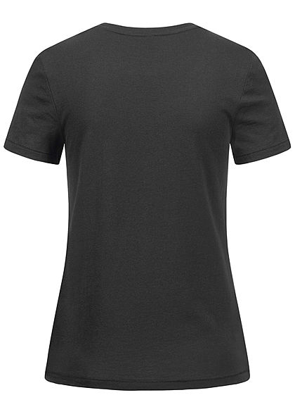 ONLY Damen T-Shirt Just Wing Stickerei Schmuckapplikation Libelle schwarz