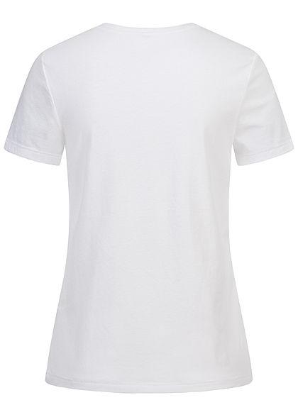 ONLY Damen T-Shirt Stay Fly Print mit Schmuckapplikationen bright weiss