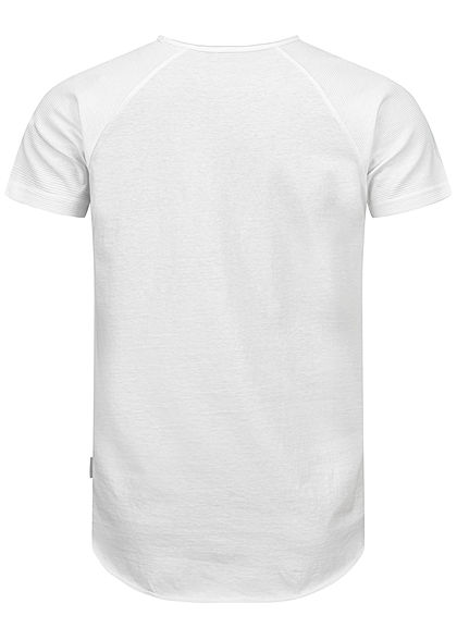 Sublevel Herren Unicolor Raglan T-Shirt weiss