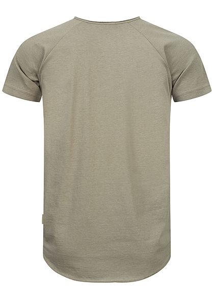 Sublevel Herren Unicolor Raglan T-Shirt oliv grün