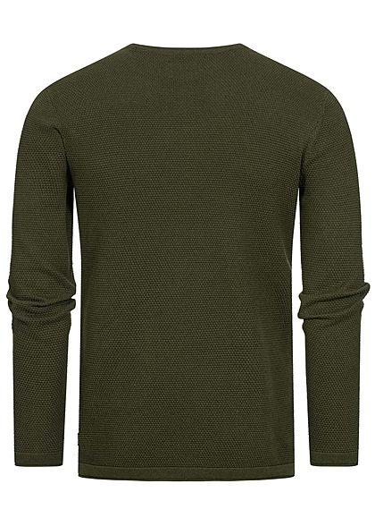 ONLY & SONS Herren NOOS Struktur Sweater Pullover oliv night grün