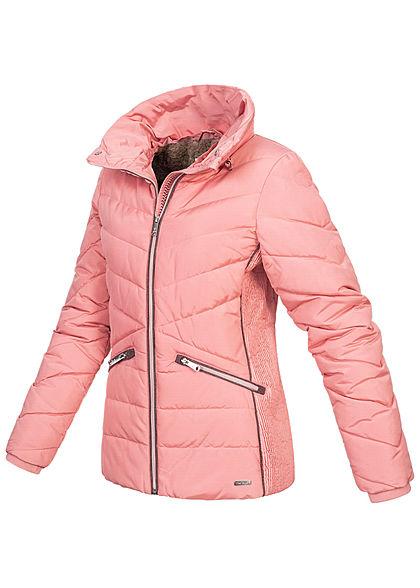 Tom Tailor Damen Winter Steppjacke Stehkragen 2-Pockets blush rosa