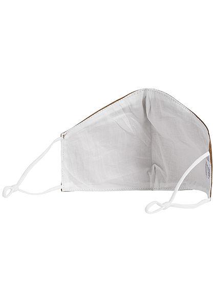 Hailys Damen Fashion Maske Mund-Nasen Behelfsmaske unicolor khaki braun