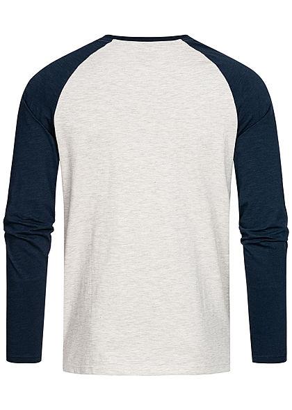 Jack and Jones Herren NOOS 2-Tone Raglan Longleeve Logo Print blazer navy blau