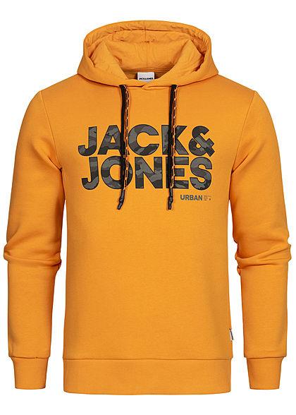 JACK /& JONES Herren Hoodie Kapuzen Pullover Langarmshirt Pulli Sweat Brust Print