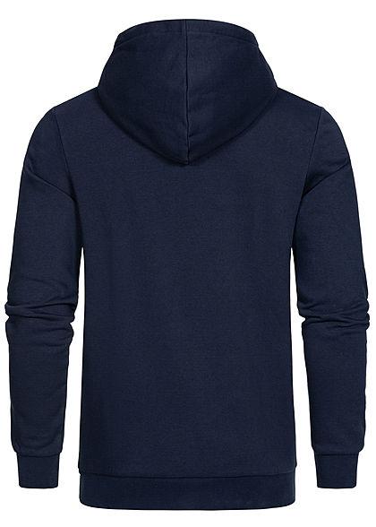 Jack and Jones Herren Sweat Hoodie Kapuze Streifen Logo Print blazer navy blau