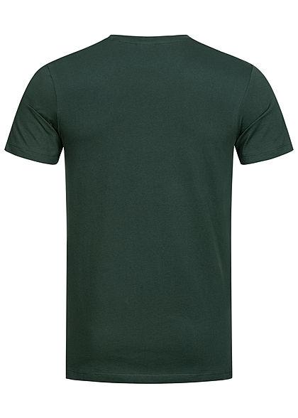 Jack and Jones Herren T-Shirt Logo Print darkest spruce grün