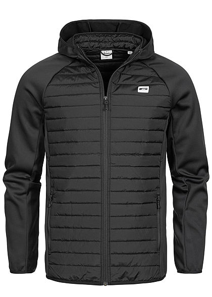 Jack and Jones Herren NOOS Übergangsjacke mit Kapuze 2-Pockets schwarz