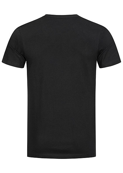 Jack and Jones Herren T-Shirt Core Logo Print Slim Fit schwarz