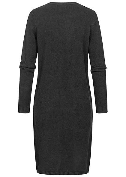 ONLY Damen Longform Cardigan offener Schnitt 2-Pockets schwarz