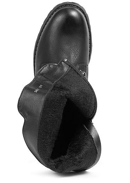 Seventyseven Lifestyle Damen 5cm Zipper seitlich schwarz