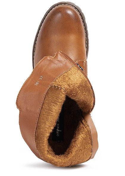Seventyseven Lifestyle Damen 5cm Zipper seitlich camel