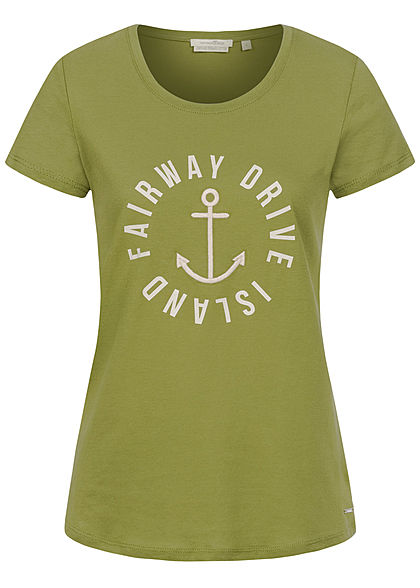 Tom Tailor Damen T-Shirt Anker Print moss grün - Art.-Nr.: 20104780