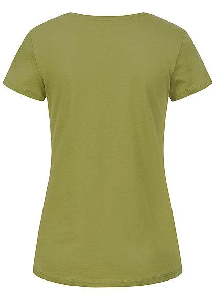 Tom Tailor Damen T-Shirt Anker Print moss grün