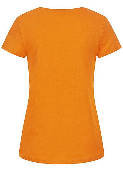Tom Tailor Damen T-Shirt Anker Print orange gelb