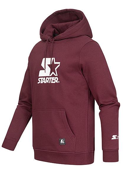 Starter Herren Classic Logo Hoodie Kapuze Kängurutasche oxblood bordaux rot