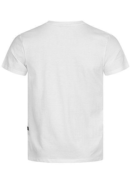 Hailys Herren T-Shirt Vintage Denim Print weiss rot schwarz