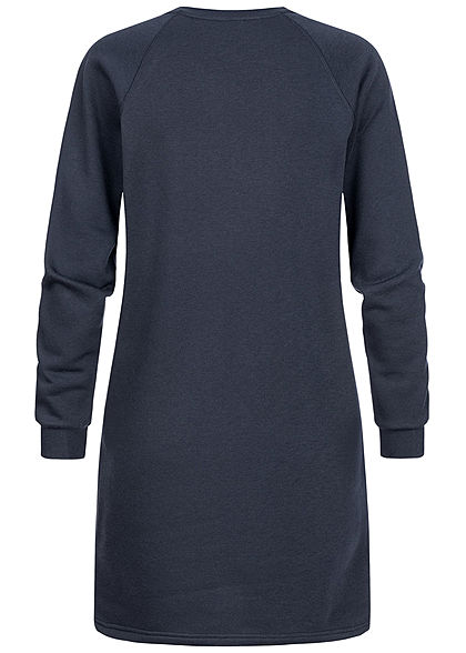 JDY by ONLY Damen Mini Sweat Kleid College League Print sky captain blau