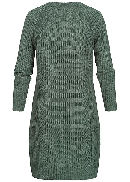 ONLY Damen NOOS Grobstrick Cardigan 2-Pockets balsam grün melange