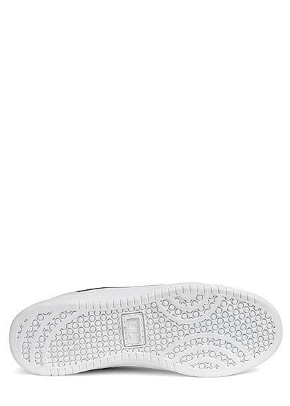 Champion Herren Schuh Low Cut Sneaker mit Logo Patch zum schnüren weiss
