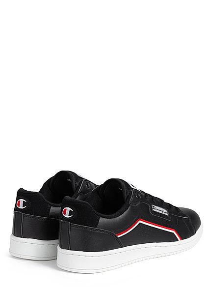 Champion Herren Schuh Low Cut Sneaker mit Logo Patch zum schnüren schwarz