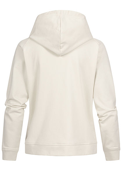 JDY by ONLY Basic Sweat Hoodie Kapuze Kängurutasche Tunnelzug silver birch beige
