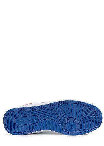 Champion Herren Schuh Low Cut Colorblock Sneaker mit Logo Patch zum schnüren weiss