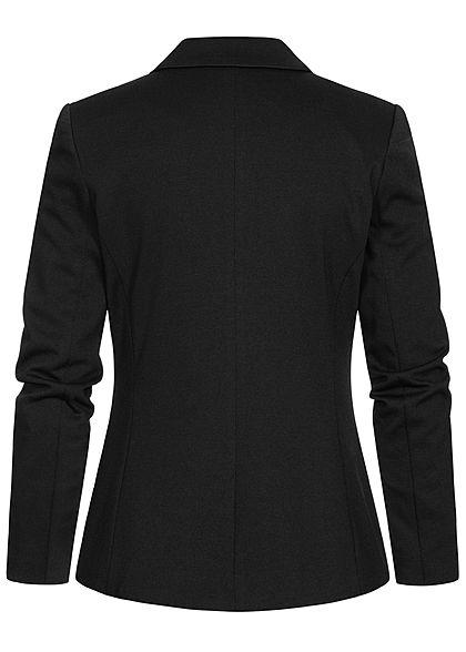 Vero Moda Damen NOOS Bodyfit Blazer 2-Pockets Knopf als Verschluss schwarz