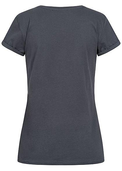 Hailys Damen Disney T-Shirt Frontprint mit Paillettenfront The Lion King anthrazit grau