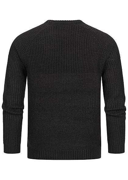 ONLY & SONS Herren Struktur Strickpullover Sweater mit Rippbündchen schwarz