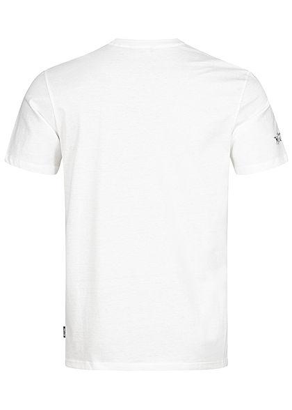 ONLY & SONS Herren T-Shirt Barber Shop Frontprint cloud dancer weiss