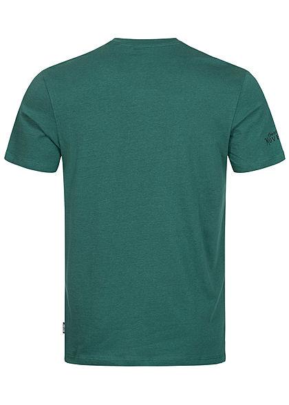 ONLY & SONS Herren T-Shirt Barber Shop Print sea moss dunkel grün