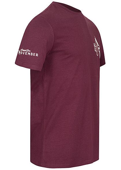 ONLY & SONS Herren T-Shirt Barber Shop Print winetasting bordeaux rot