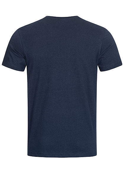 Tom Tailor Herren T-Shirt Logo Print dunkel blau rot