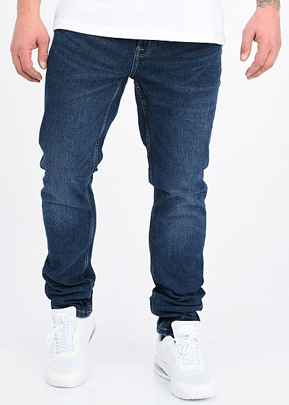 ONLY & SONS Herren Slim Fit Jeans Hose 5-Pockets black denim dunkel blau