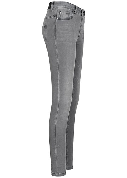JDY by ONLY Damen NOOS Skinny Jeans Hose 5-Pockets High- Waist hell grau denim