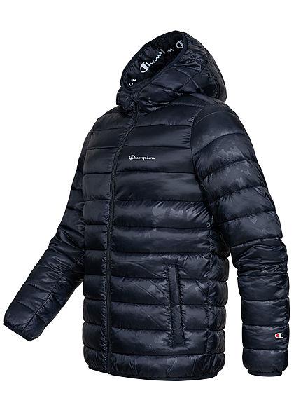 Champion Herren Winter Nylon Steppjacke Kapuze 2-Pockets navy blau
