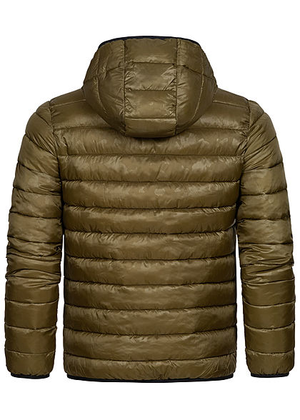 Champion Herren Winter Nylon Steppjacke Kapuze 2-Pockets oliv grün