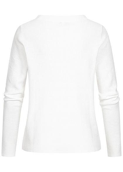 Tom Tailor Damen Basic Stehkragen Pullover atmungsaktiv whisper weiss