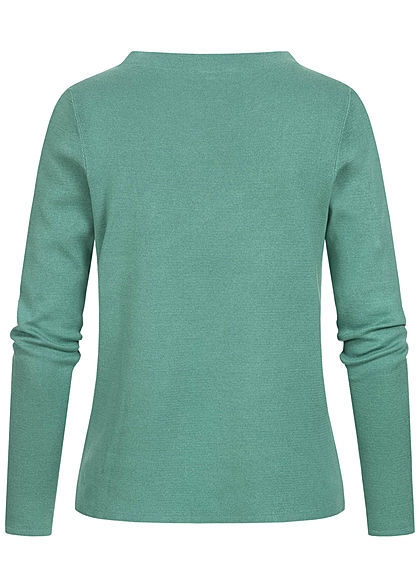 Tom Tailor Damen Basic Stehkragen Pullover atmungsaktiv salvia grün