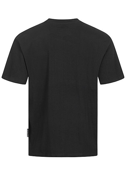 Southpole Herren T-Shirt Logo Numbers 91 Print weiter Schnitt schwarz weiss