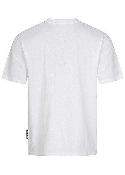 Southpole Herren T-Shirt Logo Numbers 91 Print weiter Schnitt weiss schwarz