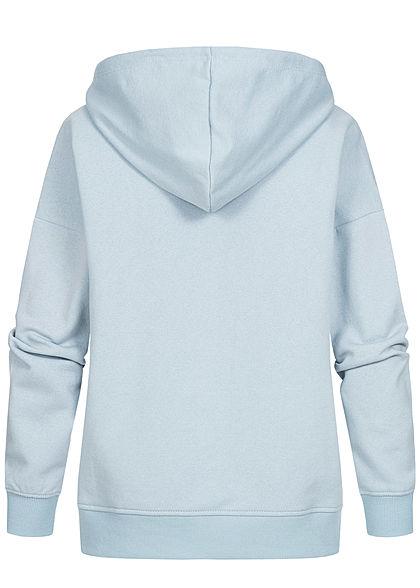 ONLY Damen NOOS Oversized Sweat Hoodie Kapuze Tunnelzug Kängurutasche nebel blau